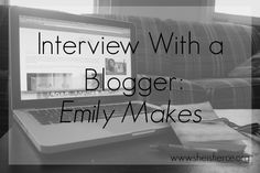 She is Fierce: Interview with a Blogger  To kick of my new Interview with a Blogger series, I'm talking to @emilyspada of Emily Makes blog and shop. Check out what's behind the blog and the crafts with this woman, and maybe even get a great #discount code!