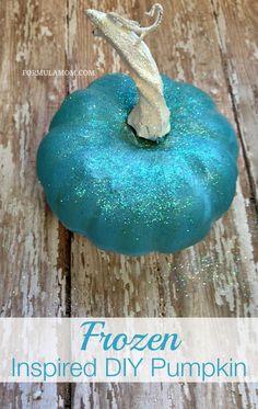 Disney's Frozen Inspired DIY Pumpkin #Halloween #Disney #Frozen