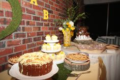 Southern Louisiana dessert table with grooms cake