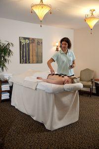 A Beachmere hot stone massage