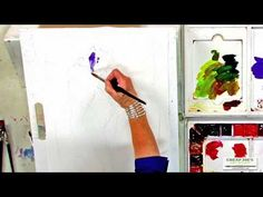 ▶ Watercolor Techniques with Janet Rogers - Painting an Iris - Part 2 - YouTube