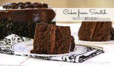 Cakes from Scratch....chocolate, white, gluten free, & vegan recipes!