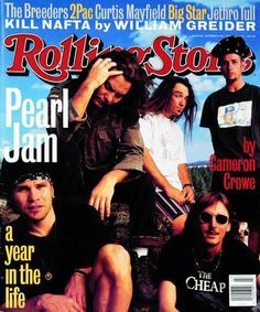 Pearl Jam - Rolling Stone cover -- Just what I need today...