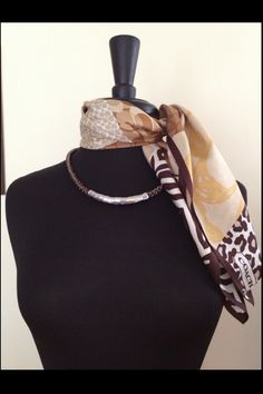 Premier Designs necklace & Coach scarf:ClaireHughes.mypremierdesigns.com access code: BLING