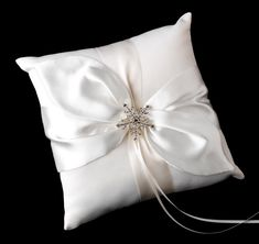 Rhinestone Snowflake Ring Pillow from TheWeddingOutlet.com