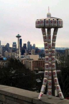 Rainier Beer Space Needle both from Seattle