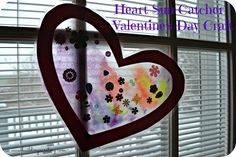 Heart Sun Catcher - Valentine's Day Craft for Toddlers and Preschoolers. #crafts