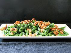 Fresh Green Bean Salad with Asian Dressing | www.tasteandtellblog.com
