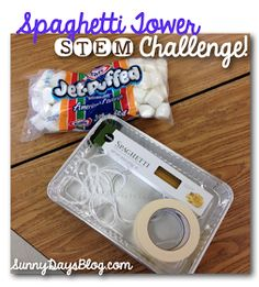 Sunny Days in Second Grade: Our First STEM Challenge! stem challeng, spaghetti tower, fun challeng, marshmallow tower