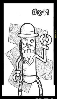 365 Robot Doodles