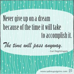 Sydney Paige Inc  Never Give Up on a Dream