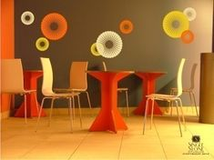Funky Circles - Vinyl Wall Decals Stickers Art Graphics