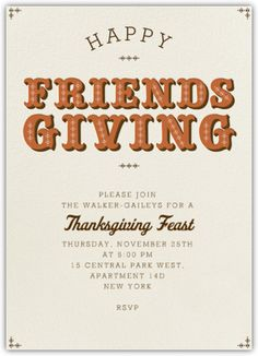 Friendsgiving Invitation #AGPinGiving