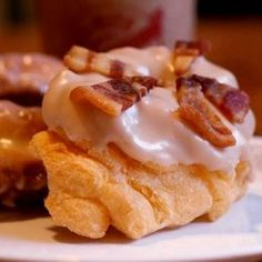 Maple w/ candied bacon donuts