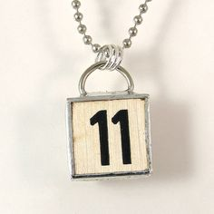Number 11 Pendant Necklace by XOHandworks