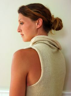 A cowl vest (purl bee)