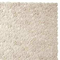 serena & lily natural flora crocheted rug