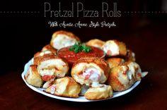 Pretzel Pizza Rolls {With Auntie Anne Style Pretzels}