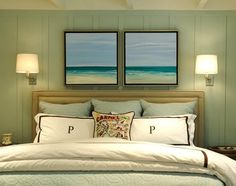 love the artwork over bed