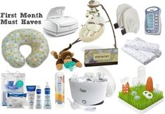 First Month Must Haves...good to know for future reference.