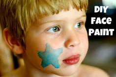 DIY face paint and other homemade art supplies
