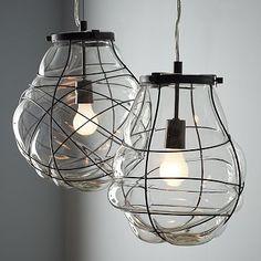 Organic Blown Glass Pendant, bonitas lamparas #lamparas #iluminación