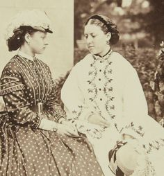 Princess Louise and Princess Helena, daughters of Queen Victoria