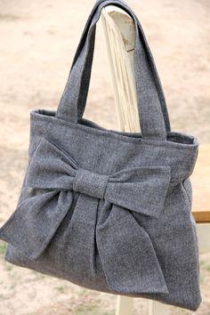 Diaper Bag / Book Bag / Purse Medium Gray  by peacelovenpolkadots, $60.00