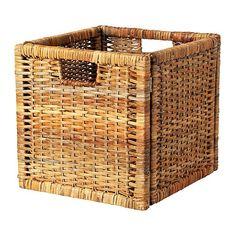 BRANÄS Kosz IKEA Kosz nadaje się do przechowywania gazet, magazynów, fotografii lub innych pamiątek. Uchwyty ułatwiają przenoszenie koszyka.
