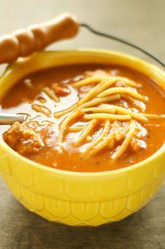 Crockpot Spaghetti and Meatball Soup from Crockpot Gourmet
