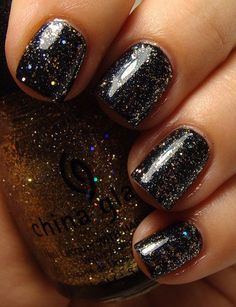 China Glaze Medallion (over black)