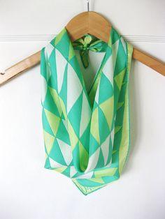 Make a silk scarf an infinity scarf-smart!