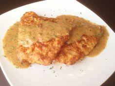 Paleo Breaded Pork Chops with Creamy Mustard Sauce - paleocupboard.com