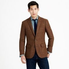 This version of the Ludlow sportcoat is woven in wool from England's Abraham Moon (considered one of the finest mills in the world). The jacket itself is partially unconstructed—in other words, it's made with a specially developed interior that offers <i>some</i> structure but, because of a soft shoulder, maintains a more laid-back look than traditional sportcoats (aka, it's lighter and a bit more casual). <ul><li>Ludlow fit.</li><li>Wool.</li><li>Notch collar.</li><li>Chest pocket, waist ...