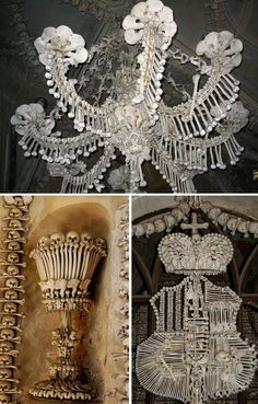 Sedlec Ossuary in the suburbs of Kutna Hora, in the Czech Republic