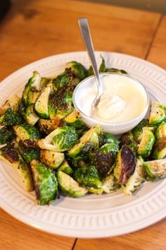 Crispy Brussel Sprouts with a Garlic Aioli