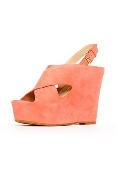 coral Dolce Vita wedges