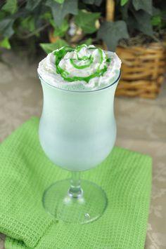 Homemade Shamrock Shake for St. Patricks Day