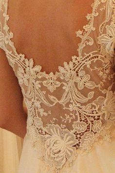 Stunning lace back wedding dress by Wanda Borges