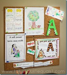 tot school - letter A - activities for all letters on site