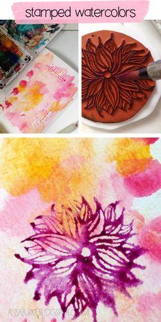 Watercolors and stamping - alisaburke: stampin' FUN!