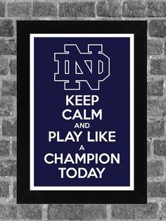 Keep Calm Notre Dame