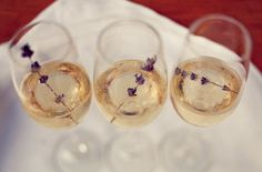 lavender infused bubbly