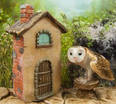 A tiny fairy house for your miniature fairy gardens and terrariums.