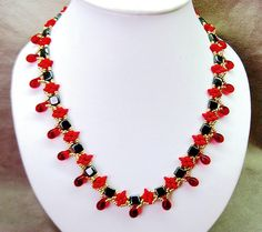 Free pattern for beaded necklace Redberry