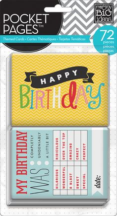 Me & My Big Ideas Pocket Pages - Birthday
