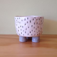 Ceramic Footed Planter, Dashes from Mr Sparrow via The Third Row