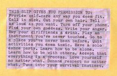 radical self-care