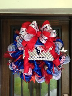 Houston Texans Wreath by JoowaBean on Etsy