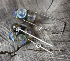 Lovely layers of Etheral Glass Unique Earrings